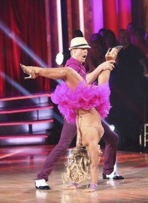 Derek Hough and Shawn Johnson mambo during Week 4 of 'Dancing with the Stars: All-Stars,' Oct. 16, 2012