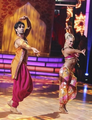 Gilles Marini and Peta Murgatroyd perform Bollywood during Week 4 of 'Dancing with the Stars: All-Stars,' Oct. 16, 2012