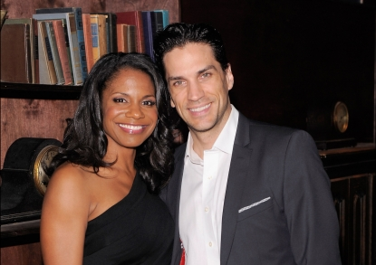 Audra McDonald and Will Swenson attend 'The Gershwins' Porgy and Bess' Broadway opening night after party at The McKittrick Hotel on January 12, 2012 in New York City