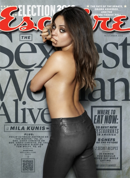 Mila Kunis on the cover of Esquire&#8217;s November 2012 cover