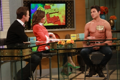 'The Price Is Right's' First male model Rob Wilson goes shirtless on Access Hollywood Live on October 11, 2012