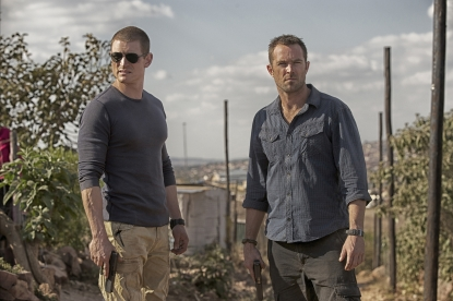 Philip Winchester as Sgt. Michael Stonebridge and Sullivan Stapleton as Damien Scott in Cinemax&#8217;s &#8216;Strike Back&#8217;