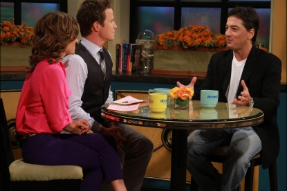 Kit Hoover and BIlly Bush chat with Scott Baio on Access Hollywood Live on October 12, 2012