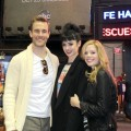 James Van der Beek, Dreama Walker, Krysten Ritter seen filming &#8216;Don&#8217;t Trust That B**** In Apt 23&#8217; in New York City on October 23, 2012 
