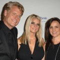 Joe Simpson, Jessica Simpson and Tina Simpson arrives at Operation Smile's 8th Annual Smile Gala at The Beverly Hilton Hotel in Beverly Hills, Calif. on October 2, 2009