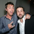 Lance Bass and Joey Fatone seen at the Pure Nightclub at Caesars Palace in Las Vegas on February 20, 2008