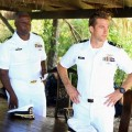 Andre Braugher as Capt. Marcus Chaplin with Scott Speedman as XO Sam Kendal in ABC's 'Last Resort'