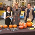 Kit Hoover and Billy Bush during Family Fun magazine&#8217;s Halloween segment on Access Hollywood Live 