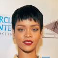 Rihanna attends the grand opening of the 40/40 Club at Barclays Center on September 27, 2012 in the Brooklyn borough of New York City
