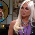 Linda Hogan appears on Access Hollywood Live on October 29, 2012, inset: Hulk Hogan