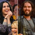 Katy Perry and Russell Brand separately attend a basketball game between the Dallas Mavericks and the Los Angeles Lakers at Staples Center in Los Angeles October 30, 2012