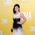 Lucy Hale arrives at the 46th annual CMA Awards at the Bridgestone Arena in Nashville, Tennessee, on November 1, 2012