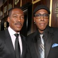 Eddie Murphy and Arsenio Hall arrive at Spike TV&#8217;s &#8216;Eddie Murphy: One Night Only&#8217; at the Saban Theatre in Beverly Hills, Calif., on November 3, 2012