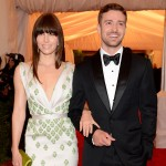 Jessica Biel and Justin Timberlake dazzle at the 'Schiaparelli And Prada: Impossible Conversations' Costume Institute Gala at the Metropolitan Museum of Art in New York City on May 7, 2012