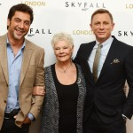 Javier Bardem, Daniel Craig and Judi Dench pose at a photocall for the new James Bond film 'Skyfall' at The Dorchester Hotel in London on October 22, 2012