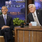 President Barack Obama during an interview with host Jay Leno on October 24, 2012