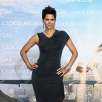Halle Berry shows off some leg at the 'Cloud Atlas' Germany premiere in Berlin on November 5, 2012