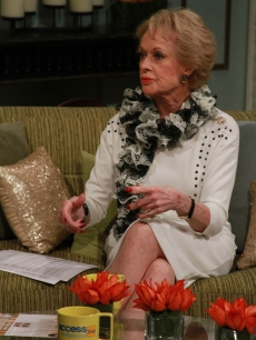Tippi Hedren talks about starring in Alfred Hitchcock's 'The Birds' on the set of Access Hollywood Live on October 19, 2012