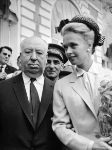 Alfred Hitchcock and Tippi Hedren in May 1963