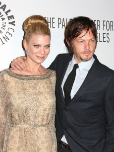 Laurie Holden and Norman Reedus attend The Paley Center for Media's Annual Los Angeles Benefit at The Rooftop Of The Lot, Los Angeles, on October 22, 2012