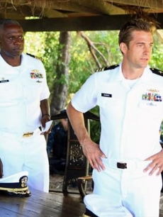 Andre Braugher as Capt. Marcus Chaplin with Scott Speedman as XO Sam Kendal in ABC&#8217;s &#8216;Last Resort&#8217;