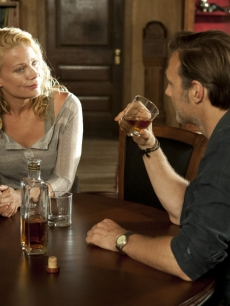 Andrea (Laurie Holden) with The Governor (David Morrissey) in Season 3, Episode 3 of AMC&#8217;s &#8216;The Walking Dead&#8217;