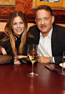Rita Wilson and Tom Hanks are spotted at Sherie Rene Scott's performance at 54 Below on October 19, 2012 in New York City