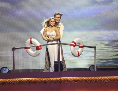 Derek Hough and Shawn Johnson perform during Week 5 of 'Dancing with the Stars: All-Stars,' October 22, 2012