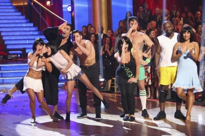 The &#8216;Gangnam Style&#8217; team perform during Week 5 of &#8216;Dancing with the Stars: All-Stars,&#8217; October 22, 2012