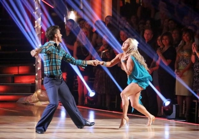 Louis van Amstel and Sabrina Bryan take the stage during Week 6 of 'Dancing with the Stars: All-Stars,' Oct. 29, 2012