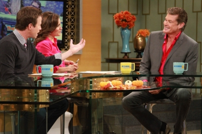 David Hasselhoff talks about his love life on the set of Access Hollywood Live on November 2, 2012