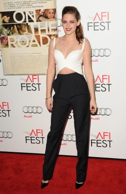 Kristen Stewart arrives at the 'On The Road' premiere during the 2012 AFI Fest presented by Audi at Grauman's Chinese Theatre in Hollywood on November 3, 2012