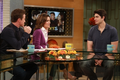 Brandon Routh on the set of Access Hollywood Live on October 19, 2012. 