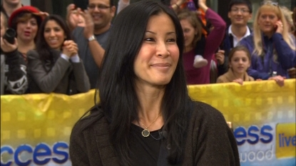 Lisa Ling visits Access Hollywood Live in New York City on October 26, 2012