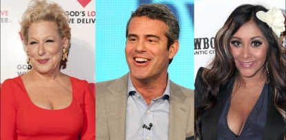 Bette Midler, Andy Cohen, Nicole &#8216;Snooki&#8217; Polizzi