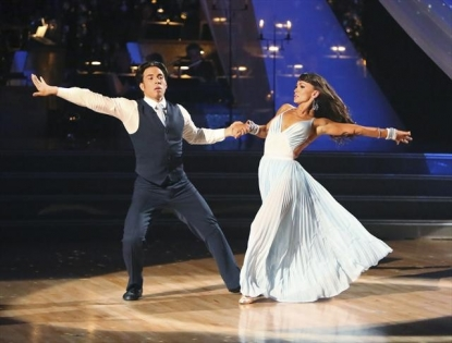 Apolo Anton Ohno and Karina Smirnoff perform on 'Dancing with the Stars: All-Stars,' Oct. 29, 2012