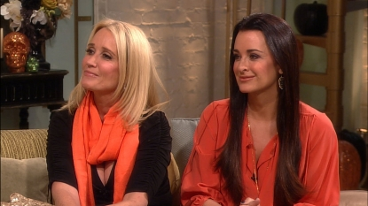 'The Real Housewives of Beverly Hills' stars Kyle and Kim Richards stopped by Access Hollywood Live on October 31, 2012