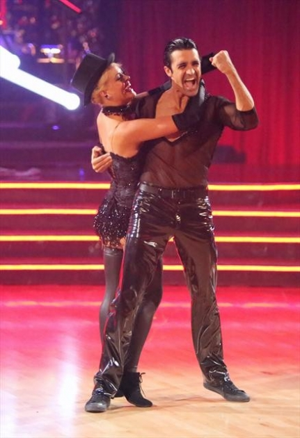 Peta Murgatroyd and Gilles Marini perform during Week 6 of 'Dancing with the Stars: All-Stars,' Oct. 29, 2012 - ABC
