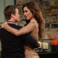New Bond babe Berenice Marlohe shares a dance with Billy Bush on Access Hollywood Live on November 6, 2012