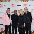 Adrian Young, Tony Kanal, Gwen Stefani and Tom Dumont of No Doubt arrive at the MTV EMA's 2012 at Festhalle Frankfurt on November 11, 2012 in Frankfurt am Main, Germany