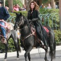 Shania Twain makes a grand entrance on horseback to begin her residency at Caesars Palace on November 14, 2012 in Las Vegas