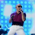 Pitbull performs onstage during rehearsals for the 40th American Music Awards held at Nokia Theatre L.A. Live in Los Angeles on November 16, 2012