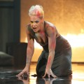 Pink takes over the American Music Awards stage for a dramatic performance of 'Try' on November 18, 2012