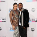 Jordin Sparks and Jason Derulo look happy and cute together as they walk the carpet of 40th American Music Award at the Nokia Theatre on November 18, 2012 in Los Angeles