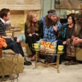 Willie, Korie, Phil and Miss Kay Robertson of 'Duck Dynasty' visit Access Hollywood on November 19, 2012