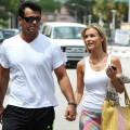 Joanna Krupa and Romain Zago are sighted in Miami on April 14, 2012