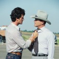 Patrick Duffy and Larry Hagman film 'Dallas,' 1980