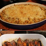 Rick Bayless' Macaroni & Cheese/Rick Bayless' Chile Glazed Sweet Potatoes