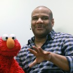 Kevin Clash and Elmo talk at the Apple Store Upper West Side in New York City on November 20, 2011