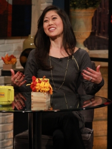 Kristi Yamaguchi stops by Access Hollywood on November 19, 2012